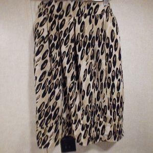 Animal print skirt 24 in length